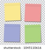 new set of yellow  green  blue... | Shutterstock .eps vector #1045110616
