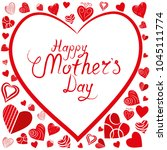 happy mothers day background... | Shutterstock .eps vector #1045111774