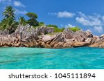 beautiful tropical st. pierre...   Shutterstock . vector #1045111894