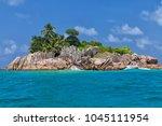 beautiful tropical st. pierre...   Shutterstock . vector #1045111954
