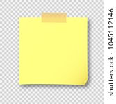 yellow note paper sticky with... | Shutterstock .eps vector #1045112146