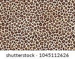 leopard spots fur  horizontal... | Shutterstock .eps vector #1045112626