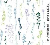 hand drawn seamless pattern... | Shutterstock .eps vector #1045113169