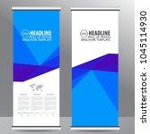 roll up business brochure flyer ... | Shutterstock .eps vector #1045114930