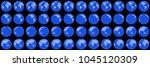 globe rotation animation sprite ... | Shutterstock .eps vector #1045120309