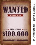 wanted western poster... | Shutterstock .eps vector #1045120888