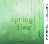 spring time text on green... | Shutterstock .eps vector #1045123849