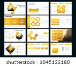 yellow bundle presentation... | Shutterstock .eps vector #1045132180