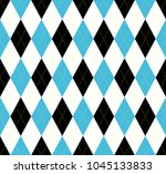 Seamless Argyle Pattern In Blu...