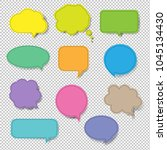 colorful speech bubble set... | Shutterstock . vector #1045134430