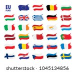 flags of the european union | Shutterstock .eps vector #1045134856