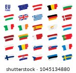 flags of the european union | Shutterstock .eps vector #1045134880