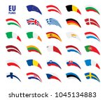 flags of the european union | Shutterstock .eps vector #1045134883