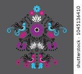 hungarian folk art background... | Shutterstock .eps vector #1045136410