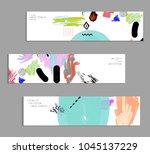 abstract universal art web...   Shutterstock .eps vector #1045137229