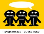 threesome holding hands with... | Shutterstock .eps vector #104514059