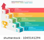 infographics element abstract... | Shutterstock .eps vector #1045141294