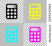 simple calculator icon. colored ...