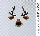 vector realistic animal deer... | Shutterstock .eps vector #1045143040
