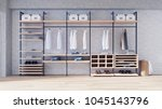 modern loft dressing room ... | Shutterstock . vector #1045143796