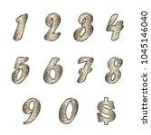 standard set of numbers  symbol ... | Shutterstock .eps vector #1045146040