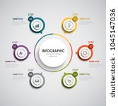 info graphic with round color... | Shutterstock .eps vector #1045147036