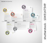 time line info graphic with... | Shutterstock .eps vector #1045147549