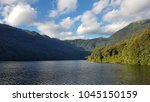 lake tinquilco in huerquehue...   Shutterstock . vector #1045150159