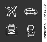 public transport chalk icons... | Shutterstock .eps vector #1045153354