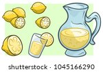 cartoon jug or pitcher with... | Shutterstock .eps vector #1045166290