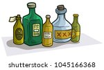 cartoon colorful different... | Shutterstock .eps vector #1045166368