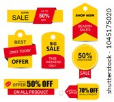 stickers  price tag  banner ... | Shutterstock .eps vector #1045175020