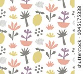 hand drawn cut paper seamless... | Shutterstock .eps vector #1045175338