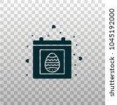 calendar with egg symbol  ... | Shutterstock .eps vector #1045192000