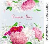 vintage floral vector... | Shutterstock .eps vector #1045193380