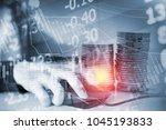 financial data in term of a... | Shutterstock . vector #1045193833