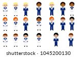 boys in their first communion | Shutterstock .eps vector #1045200130