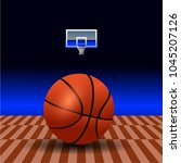 basketball court. sport arena....   Shutterstock .eps vector #1045207126