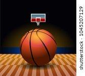 basketball court. sport arena....   Shutterstock .eps vector #1045207129