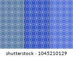 blue geometric ornaments. set... | Shutterstock .eps vector #1045210129