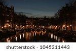 night of amsterdam | Shutterstock . vector #1045211443