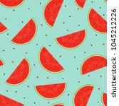 seamless pattern of cut pieces...   Shutterstock .eps vector #1045212226
