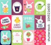 set templates banners or cards. ... | Shutterstock .eps vector #1045216003