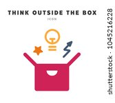 think outside the box concept.... | Shutterstock .eps vector #1045216228