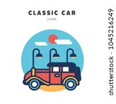 classic car line color vector... | Shutterstock .eps vector #1045216249
