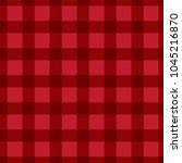 red plaid checkered gingham... | Shutterstock .eps vector #1045216870