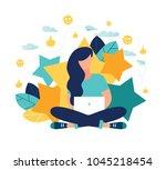 vector illustration on white... | Shutterstock .eps vector #1045218454