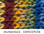 Colorful Knit Fabric Texture....