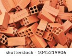 group of bricks square... | Shutterstock . vector #1045219906