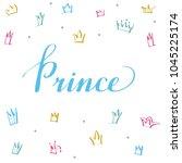 hand lettering .word prince....   Shutterstock .eps vector #1045225174
